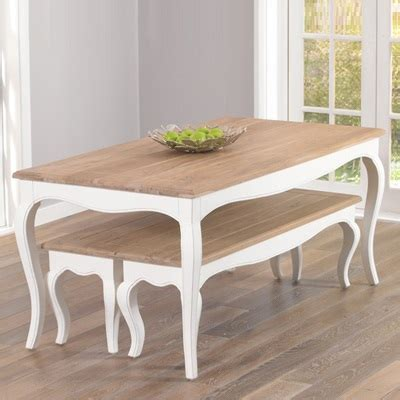 seville ivory painted distressed dining table with 2