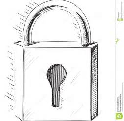 lock icon fast sketch illustration stock images image