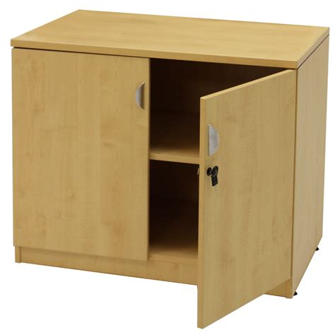 cabinet with locking doors maple office furniture 6 piece suite
