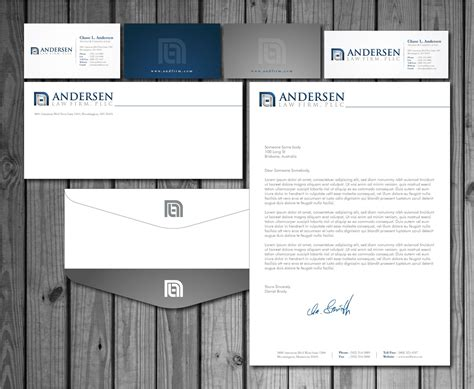business letterhead and envelopes check out this design for andersen firm pllc business