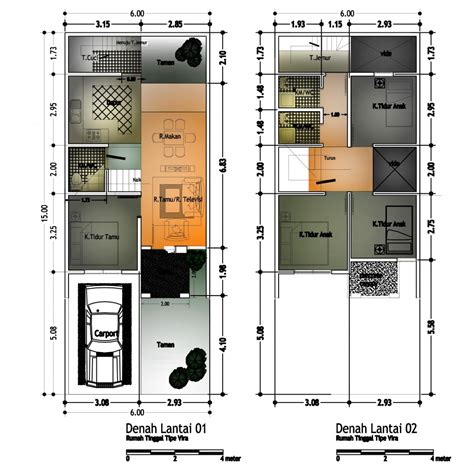 sketsa denah rumah 2 lantai type 21 36 45 54 70 minimalis 2014 kumpulan terbaru 2017