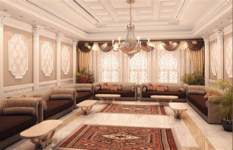 modern arabic interior decorating in ramadan house