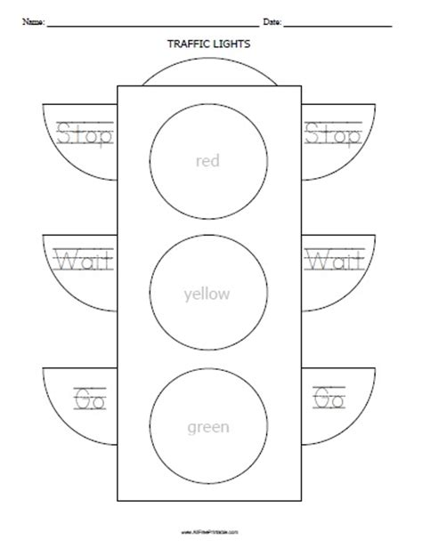 Traffic Lights Worksheet Free Printable Printable Traffic Light