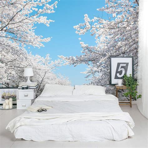 murals for bedrooms cherry blossom wall mural