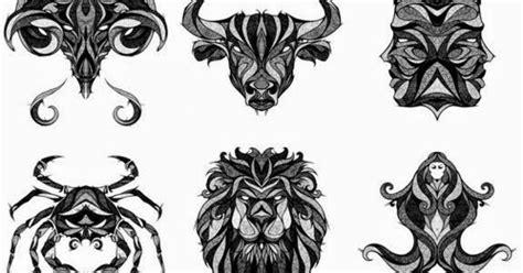 dise 241 o tatuaje tribal signos zodiacales set 02 im 193 genes