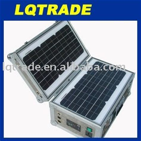 30w portable solar power generation system solar home