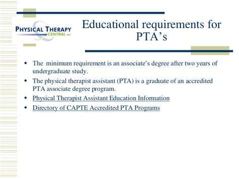 therapist requirements a career in physical therapy ou hes 2010