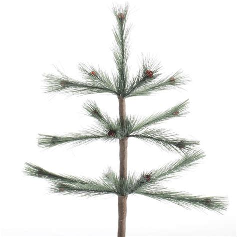 artificial skinny feather tree pick christmas and winter