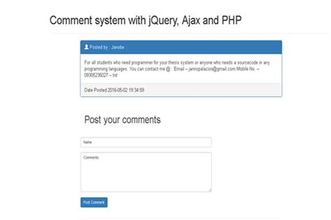 tutorial php com netbeans comment system with jquery ajax php and mysql database