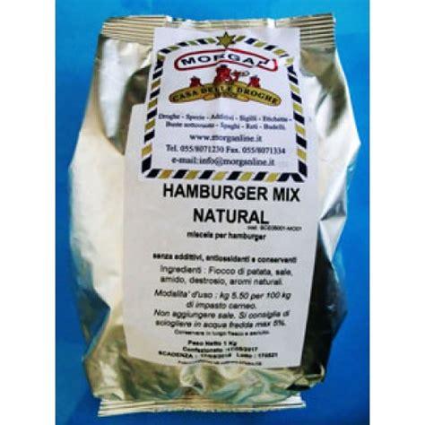 conservanti naturali per alimenti miscela naturale per hamburger senza antiossidanti
