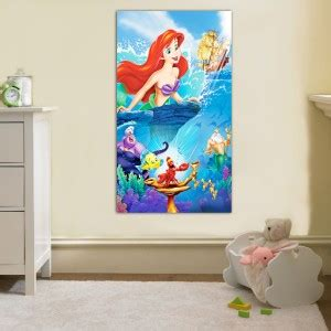 little mermaid home decor the little mermaid ariel disney canvas print home wall
