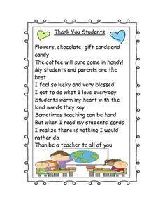 thank you letter to from elementary student 1000 images about preschool poems on thank