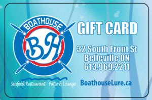 Boathouse Gift Card - rewards gift cards the boathouse seafood restaurant