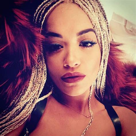 Rita Ora Debuts Long Braided Hairstyle   Afrossip
