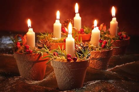 decorazioni candele natalizie decorazioni natalizie fai da te