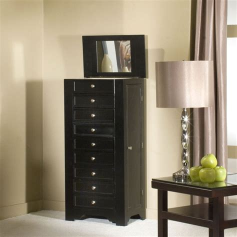 black jewelry armoire chest jewelry armoire cabinet black