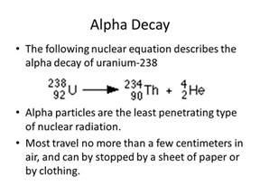 Proton Balance Equation Equation For Alpha Decay Jennarocca