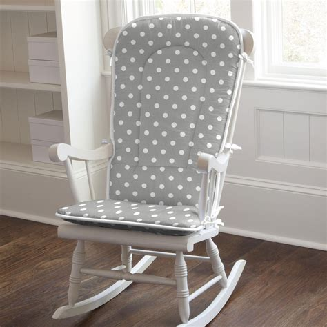 Gray And White Striped Chair Gray And White Dots And Stripes Rocking Chair Pad