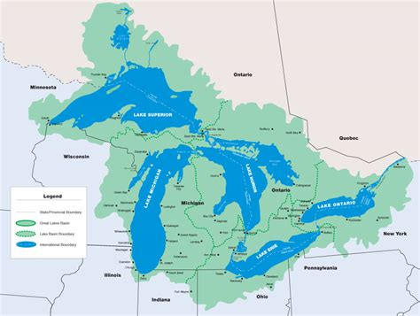 5 great lakes on us map dynamic great lakes the great lakes basin