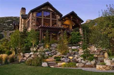 homes in the mountains bringing rustic appeal to your outdoor home