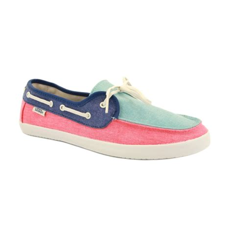 vans chauffette se97yn womens laced canvas boat shoes aqua