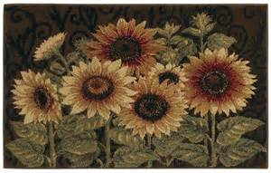 Sunflower Area Rug Shaw Brown 3x5 Sunflower Leaf Floral Kitchen Area Rug Approx 2 6 Quot X 4 2 Quot Ebay