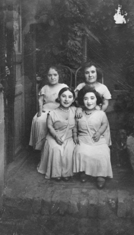 Group portrait of four female members of the Ovici family