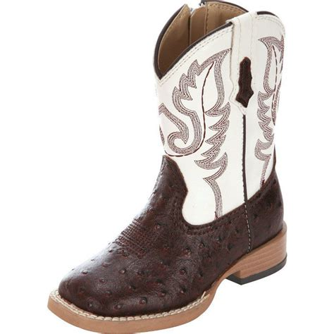 shop infants roper brown ostrich and white top cowboy boots
