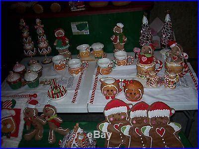 cracker barrel christmas decore gingerbread and more gingerbread 45 whole lot from cracker barrel store decor