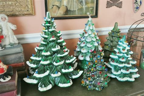 ceramic christmas tree collection just vintage home