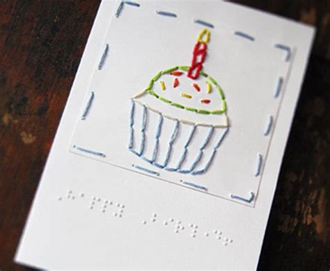 Birthday Cards For Visually Impaired braille quot happy birthday quot cupcake card ideas for visually