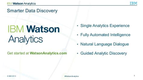 Ibm Watson Analytics Presentation Ibm Ppt Template Free