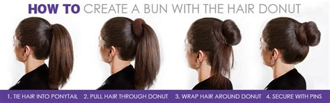 how to use a hair bun ring hair volumizing scrunchie donut ring style bun scrunchy