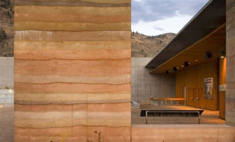 Low Cost Home Design by Rammed Earth Construction Materia