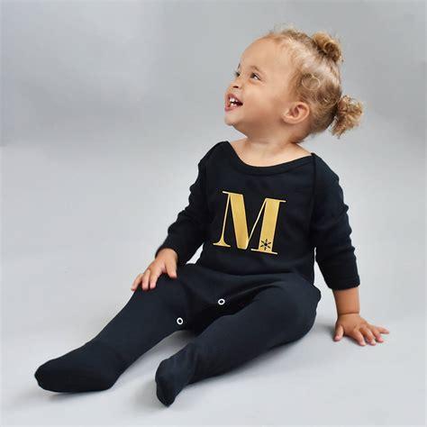 Jumper Sleepsuit alphabet personalised baby romper sleepsuit by ellie ellie notonthehighstreet