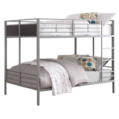 Grey Metal Bunk Beds Homelegance Folding Metal Bunk Bed In Gray B2033ff 1