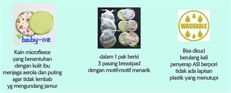 Penyerap Asi Cleeos Washable Breast Pads 6 Pcs Berkualitas Bagus breastpad kain washable breastpad baby oz qeelababyshop