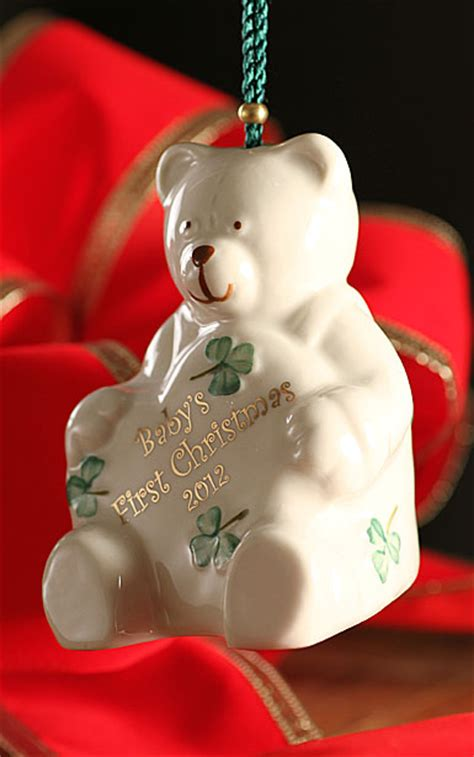 belleek baby s first christmas 2012 ornament