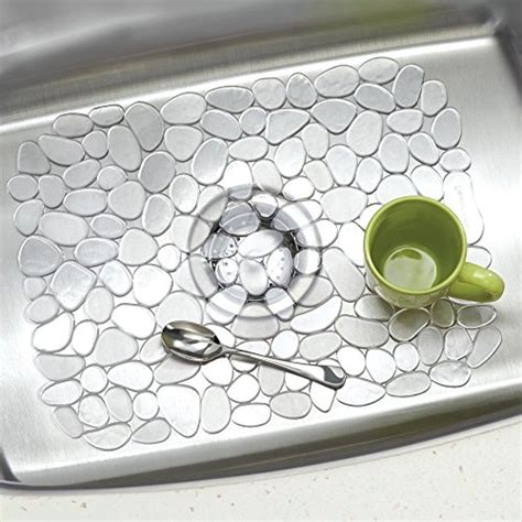 interdesign pebblz kitchen sink protector mat large