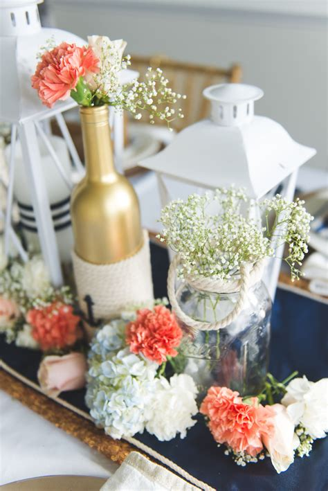 nautical centerpieces for wedding simple centerpieces images summer rustic wedding