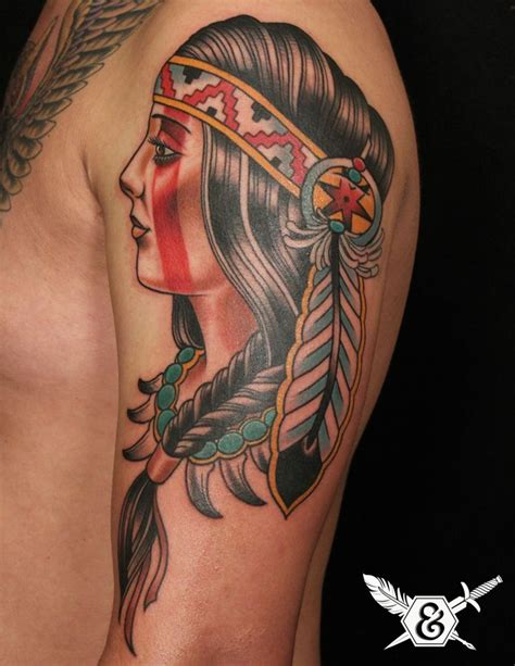 russ abbott tattoo indian squaw by russ abbott your is a canvas