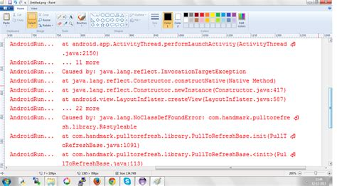 android layout xml not found listview android unable to load class error stack overflow