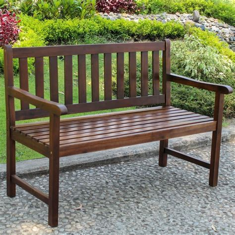 bench international international caravan highland patio garden bench wood