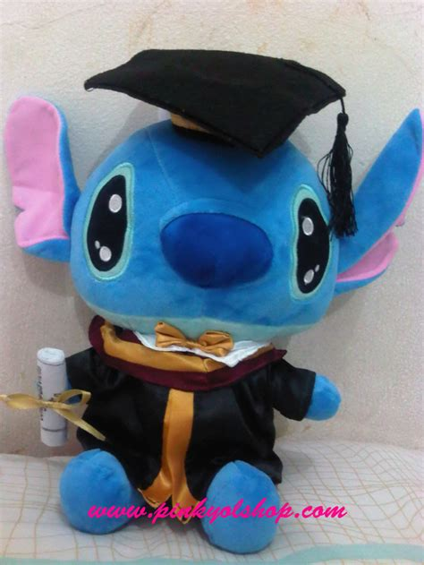 jual boneka stitch wisuda limited edition pinkyshop
