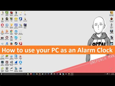 turn your pc into an alarm clock without any program windows 10 8 1 7