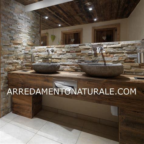 ovvio comodini mobili bagno legno massello rustico su misura with