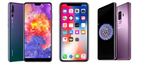 iphone v huawei huawei p20 pro vs samsung galaxy s9 plus vs iphone x comparison