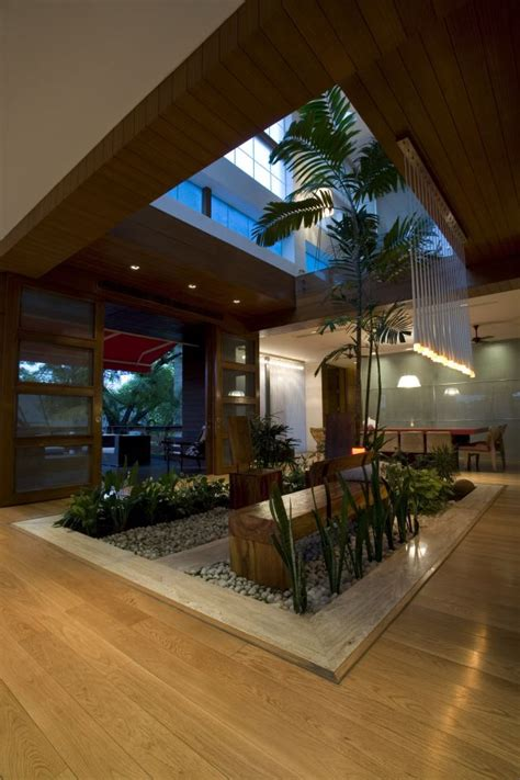 interior garden n85 residence in new delhi india