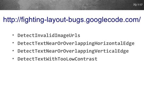 fighting layout bugs exles fighting layout bugs jug bb 2011