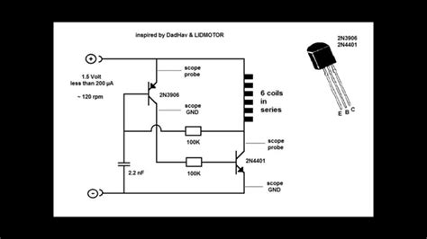 transistor engine pulse motor and two transistor circuit
